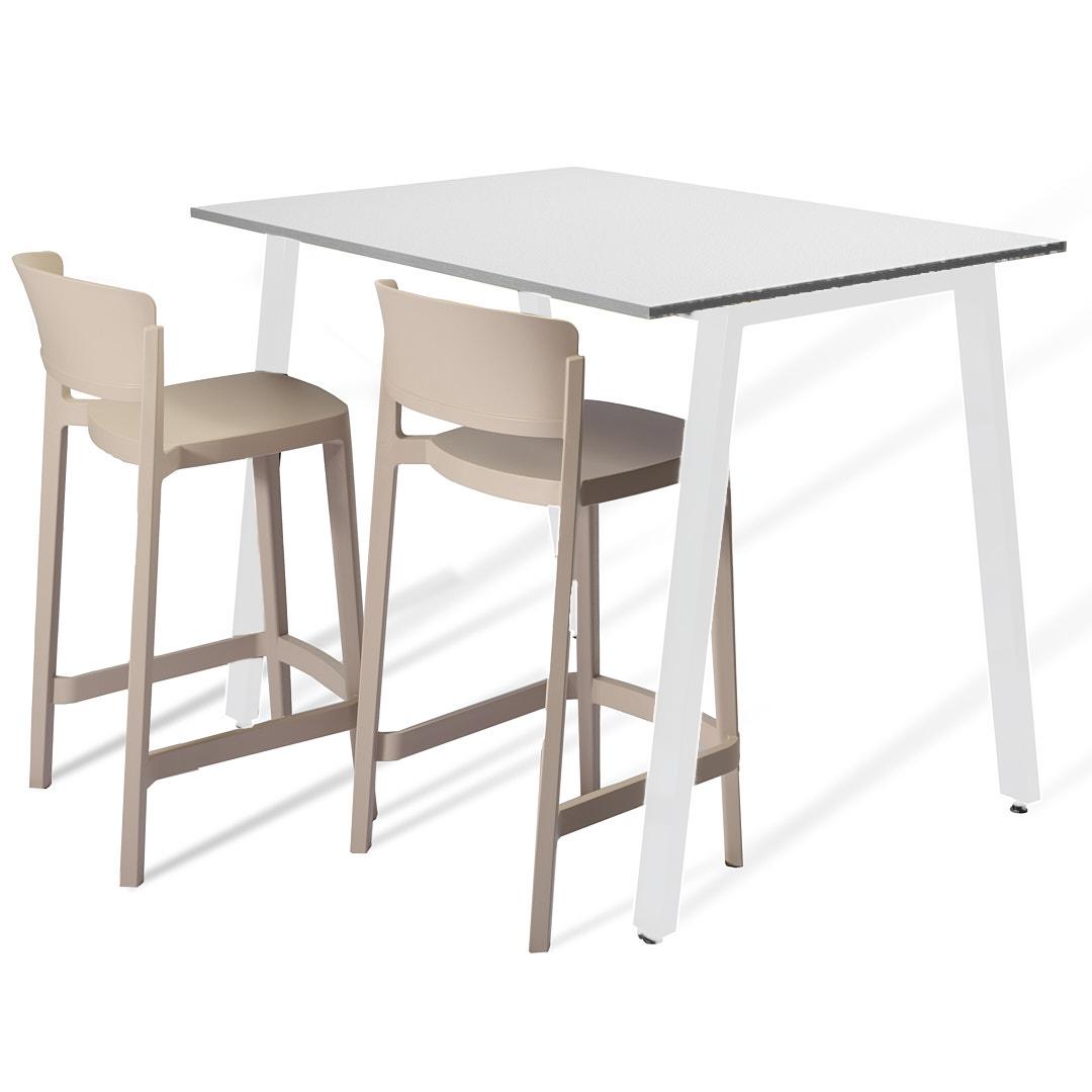 שולחן בר אפור