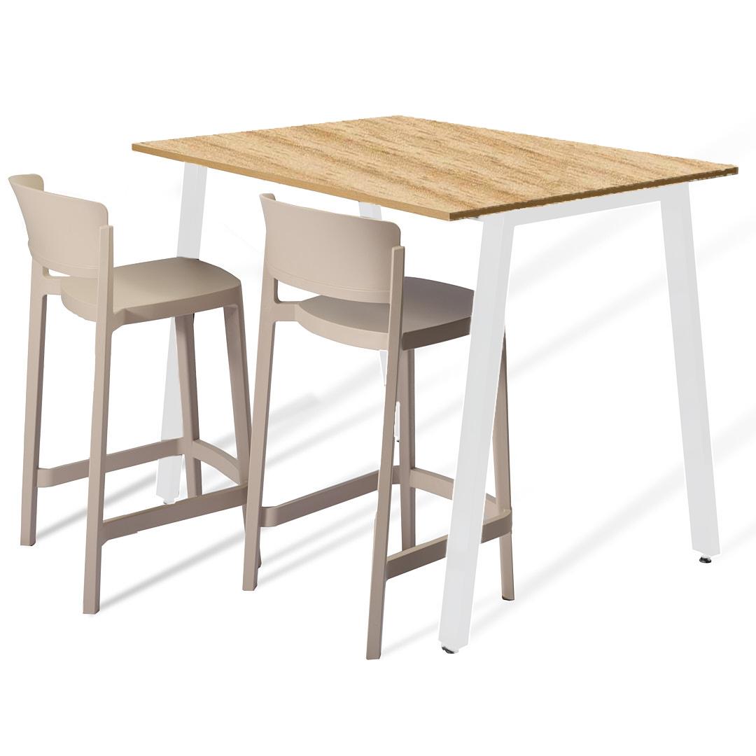 שולחן בר עץ