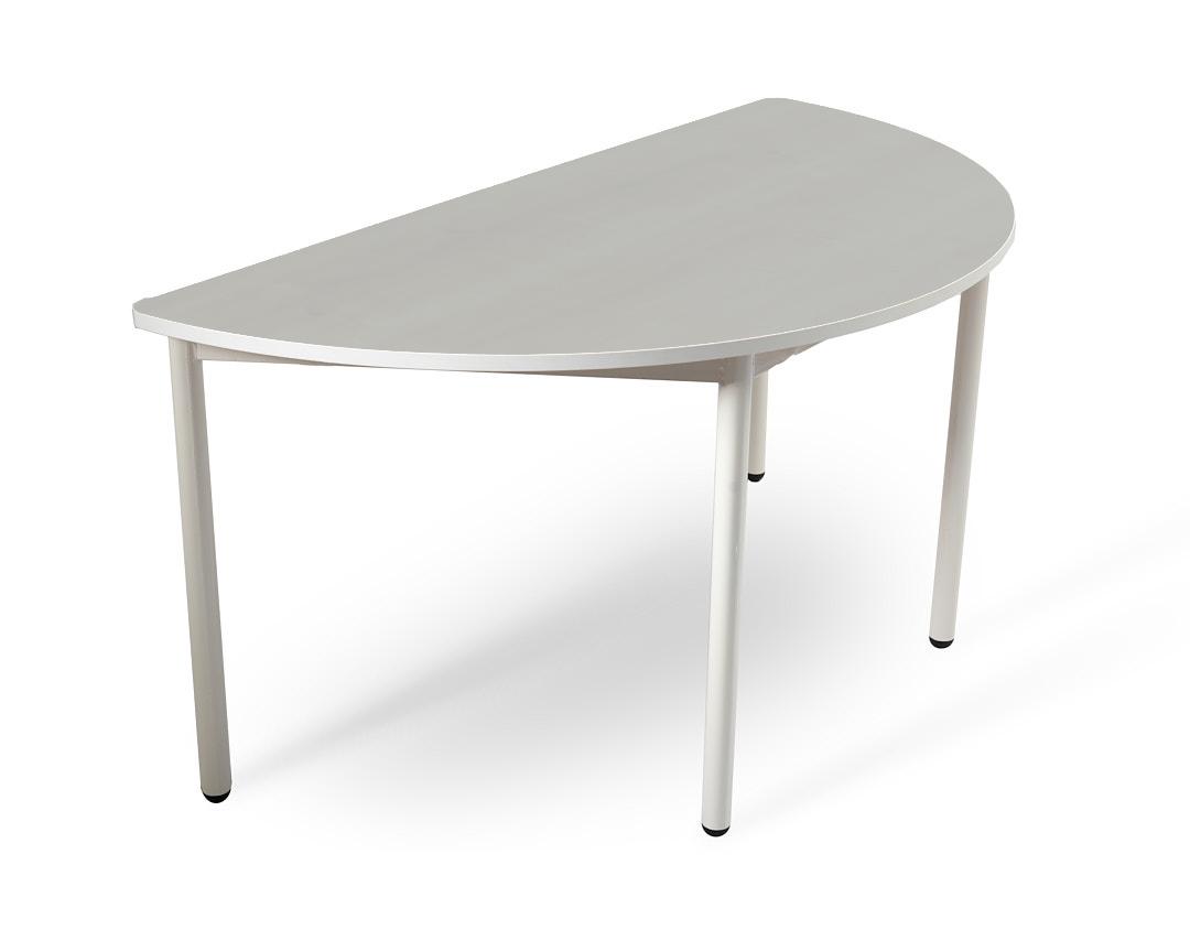 שולחן חצי עיגול אפור