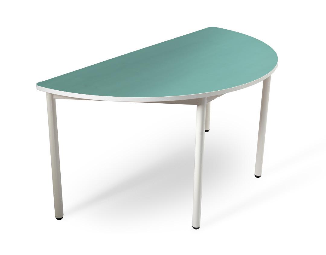 שולחן חצי עיגול טורקיז