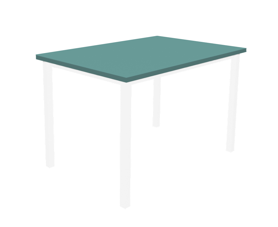 שולחן מלבן טורקיז