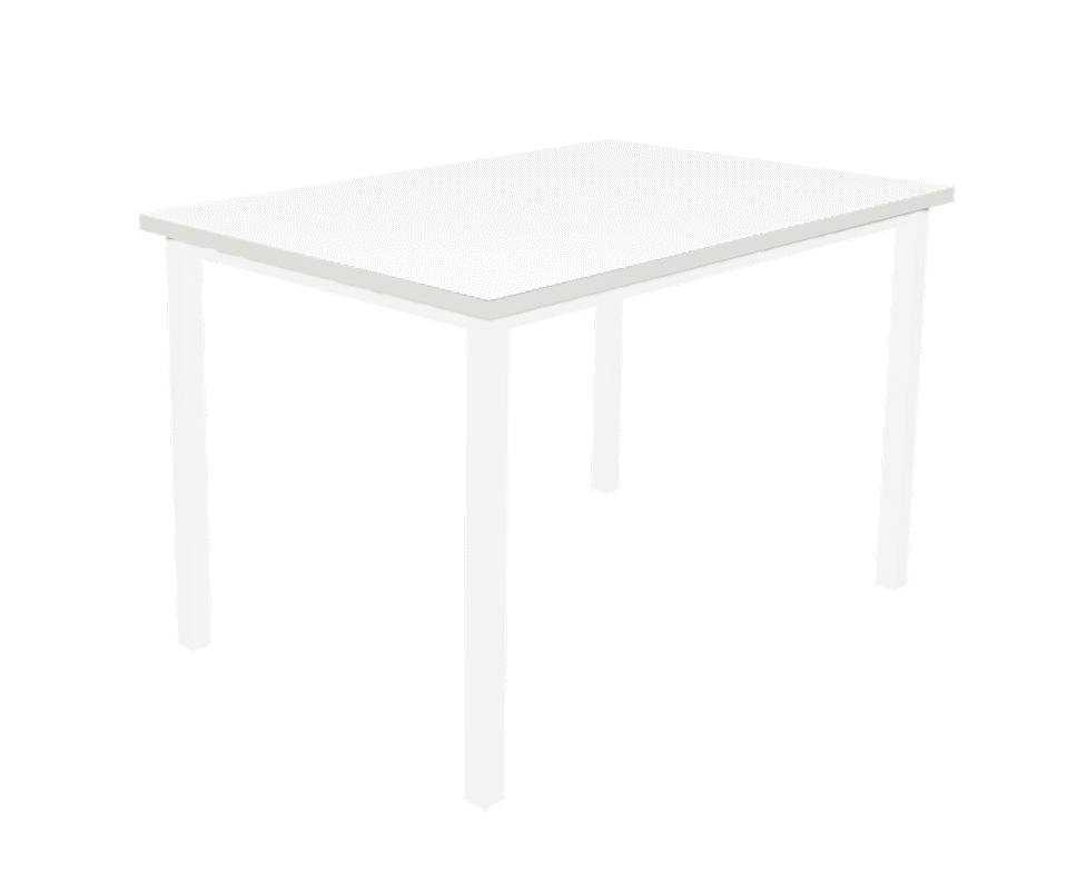 שולחן מלבן לבן