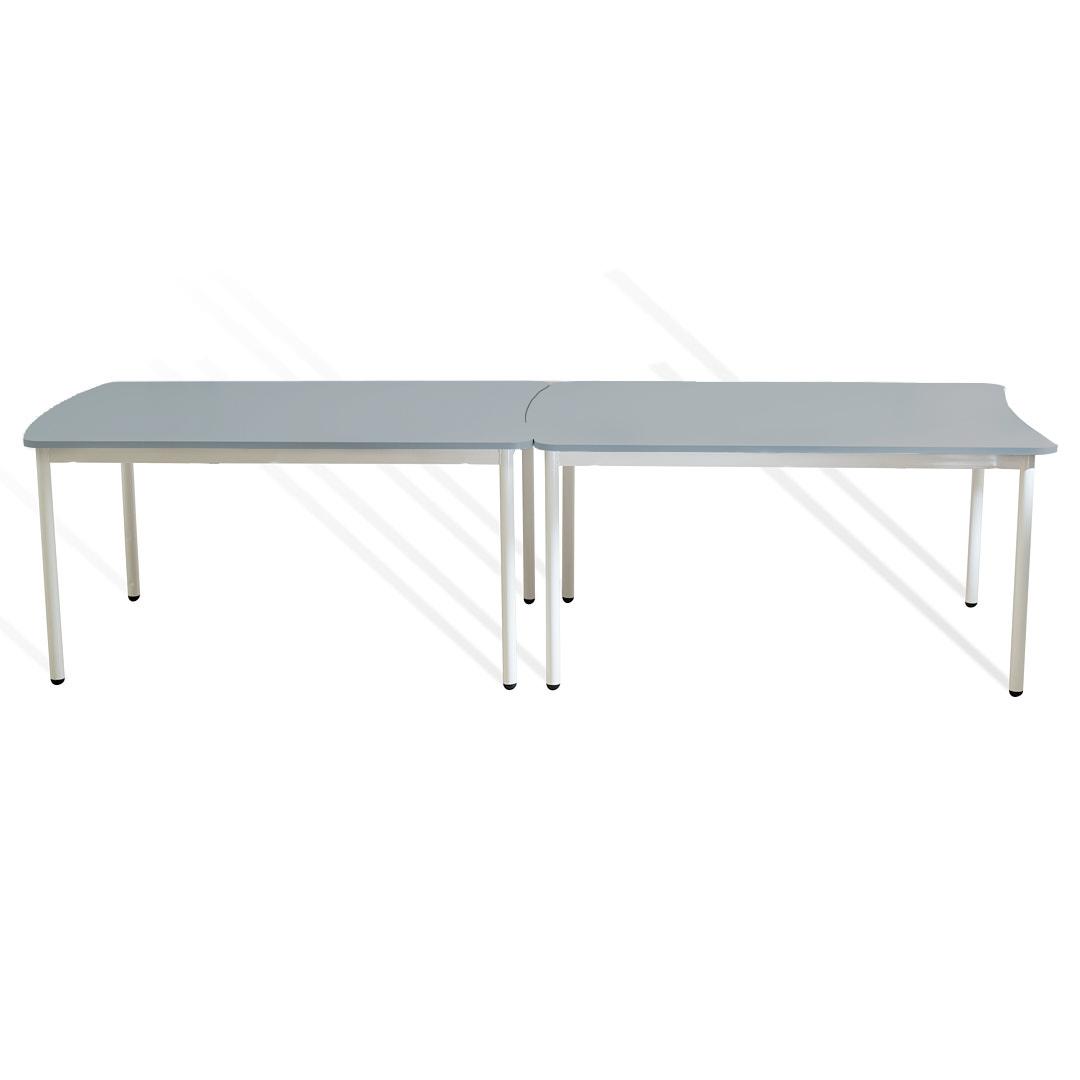 שולחן מלבן קשת אפורה