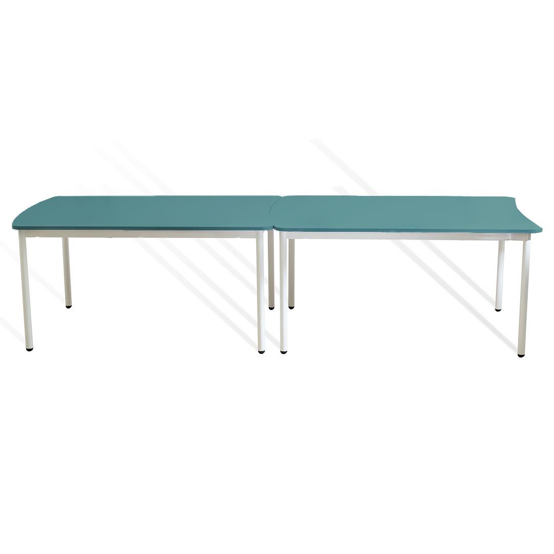 שולחן מלבן קשת טורקיז