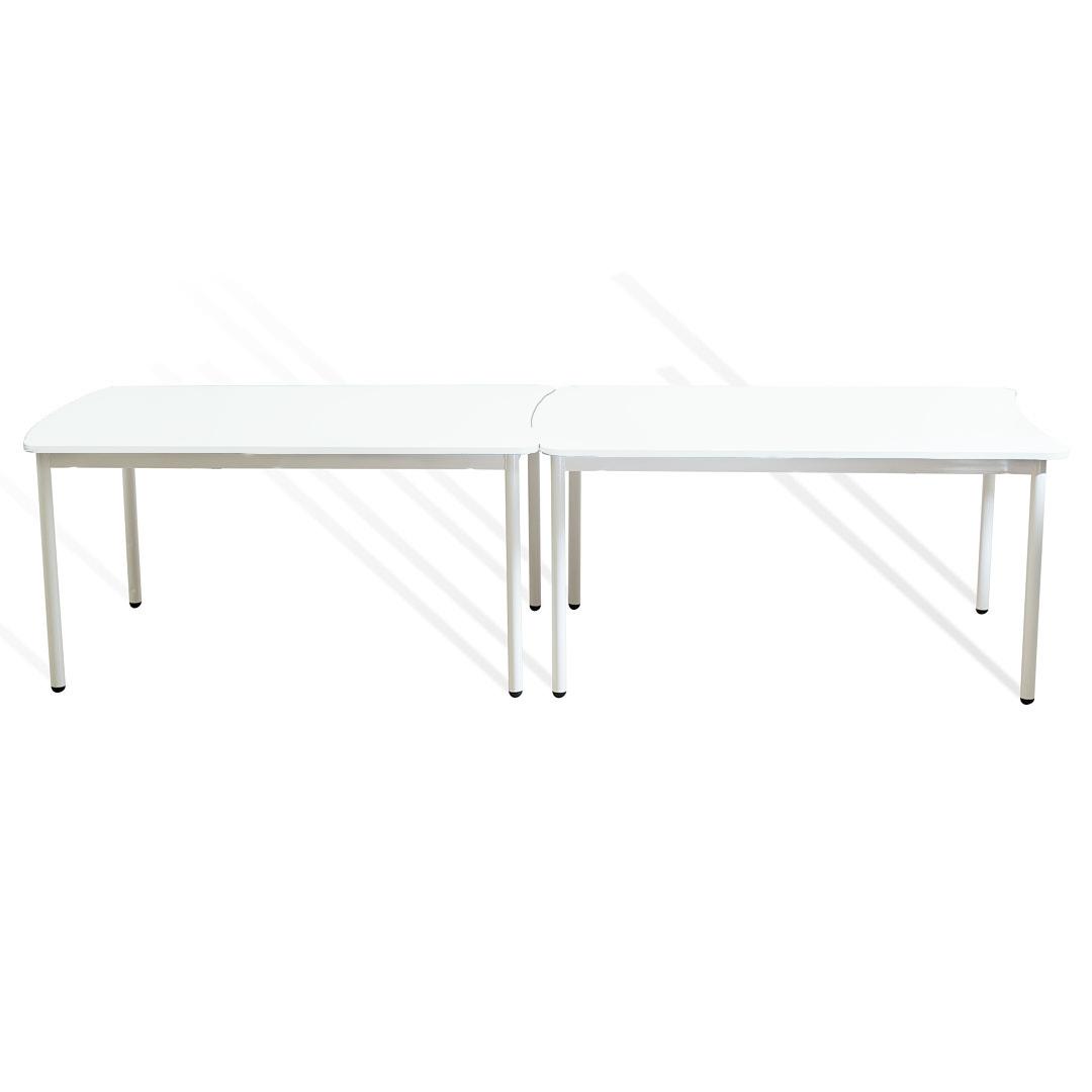 שולחן מלבן קשת לבן
