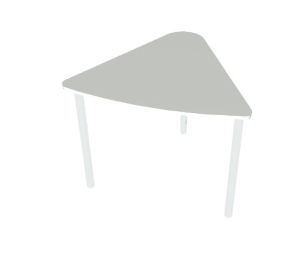 שולחן משולש אפור
