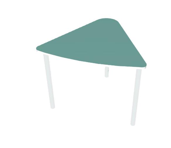שולחן משולש טורקיז