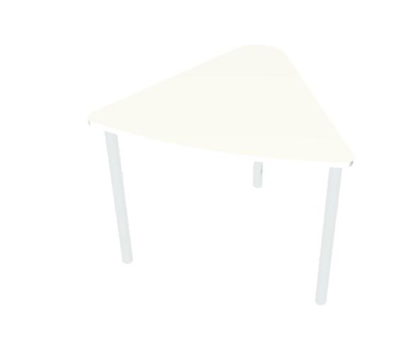שולחן משולש לבן