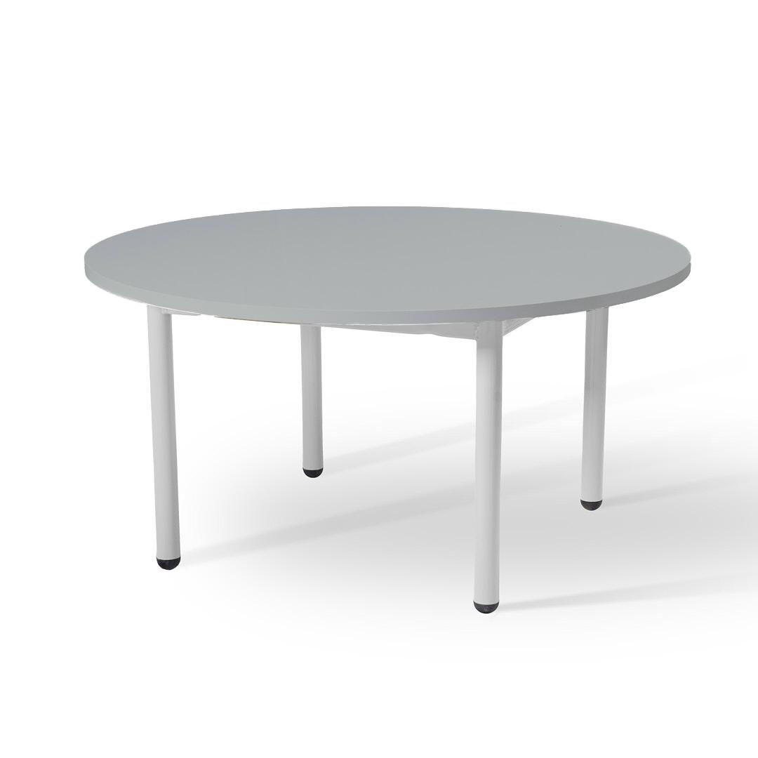 שולחן עגול נמוך אפור