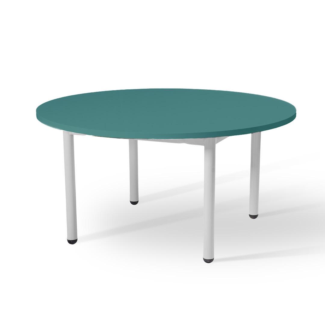 שולחן עגול נמוך טורקיז