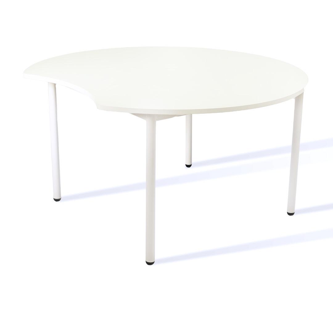 שולחן עוגיה לבן