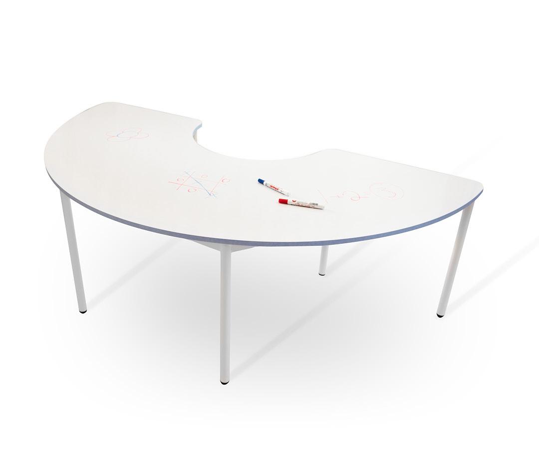 שולחן קשת לבן