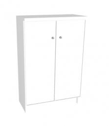 ארונית 2 דלתות לבנה