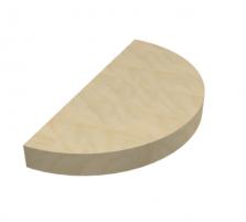במה חצי עיגול עץ