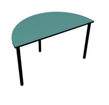 שולחן חצי עיגול ירוק טורקיז פקמן (1)