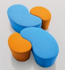 square poufs